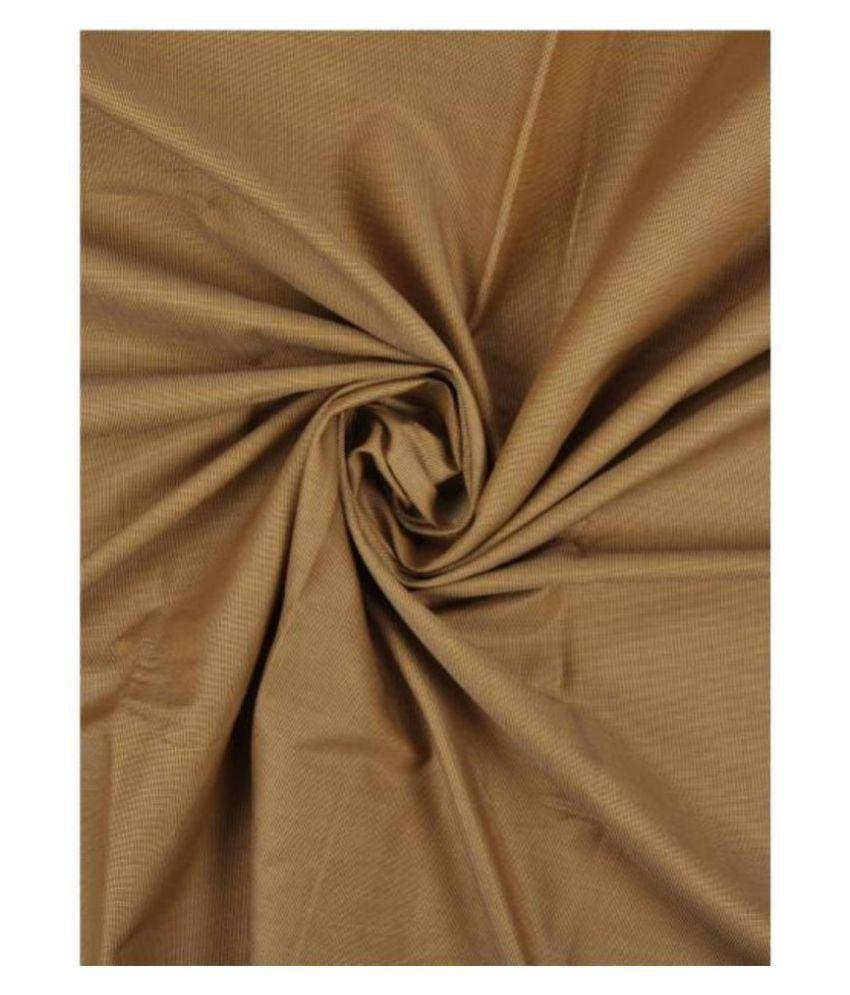 Makhanchor Khaki Linen Unstitched Shirt pc Single