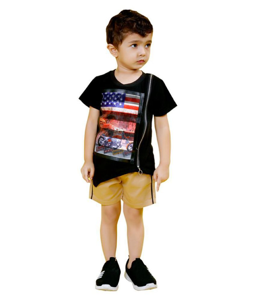 MashUp Junior Stylish Outfit with Cotton T-shirt and Shorts