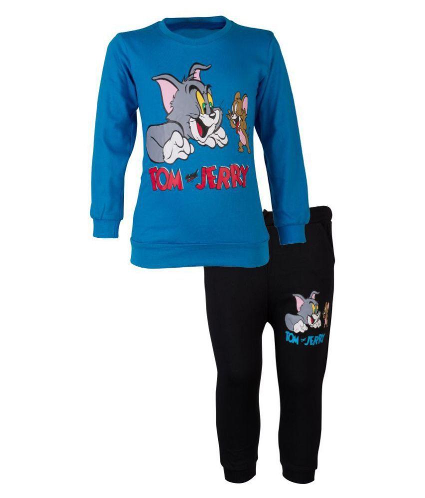 CATCUB Kids Tom and Jerry Top & Pant Set (Blue)