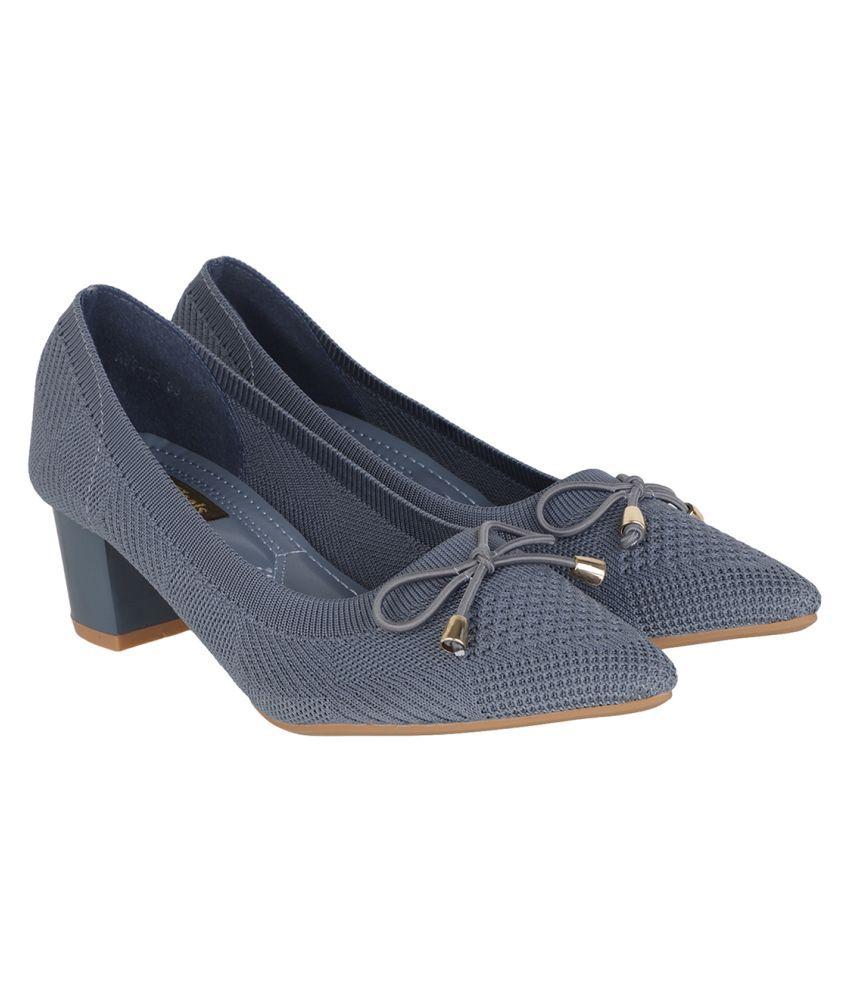 Flat N Heels Blue Block Heels