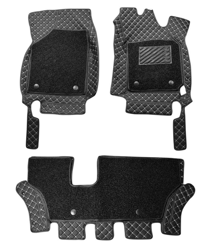 WIINE Leatherite 7D Car Mats For Skoda Fabia (2015) (Grey)