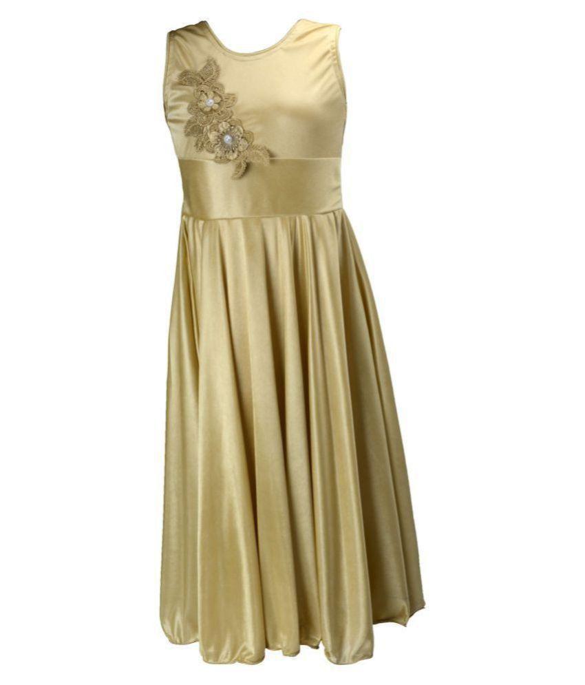 Clobay Fashion Dress Satin Frock for Girls