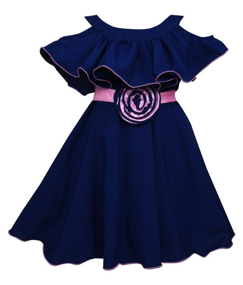 Clobay Poncho cut sleeve Frock Kids Dress for Girls