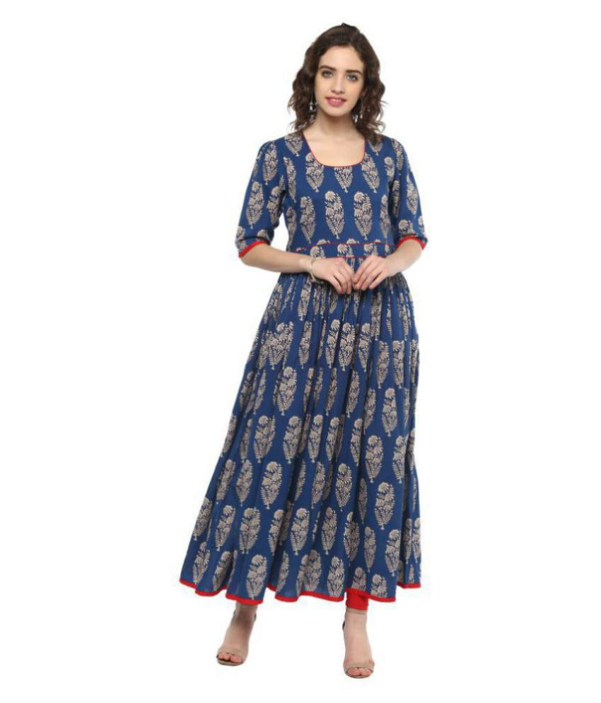 Divena Cotton Blue Regular Dress
