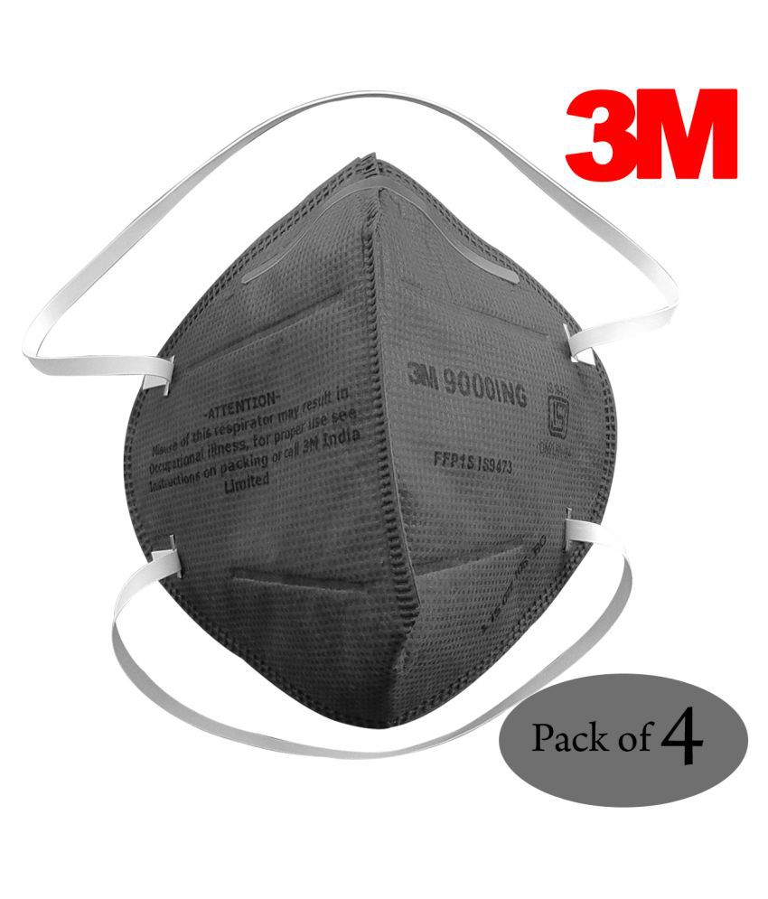 3M Particulate Respirator 9000 ING (FFP1, BIS, Valved), ISI Approved White, 250 EA/Case | Pack of 4