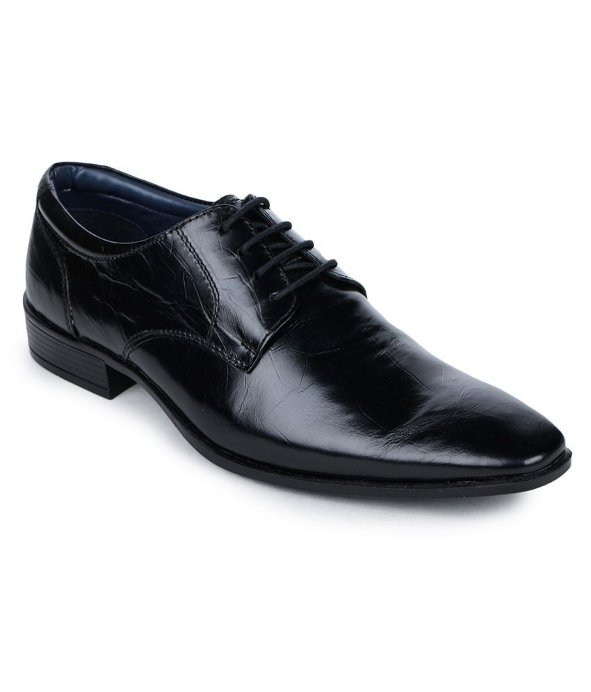 Bruno Manetti Genuine Leather Black Formal Shoes