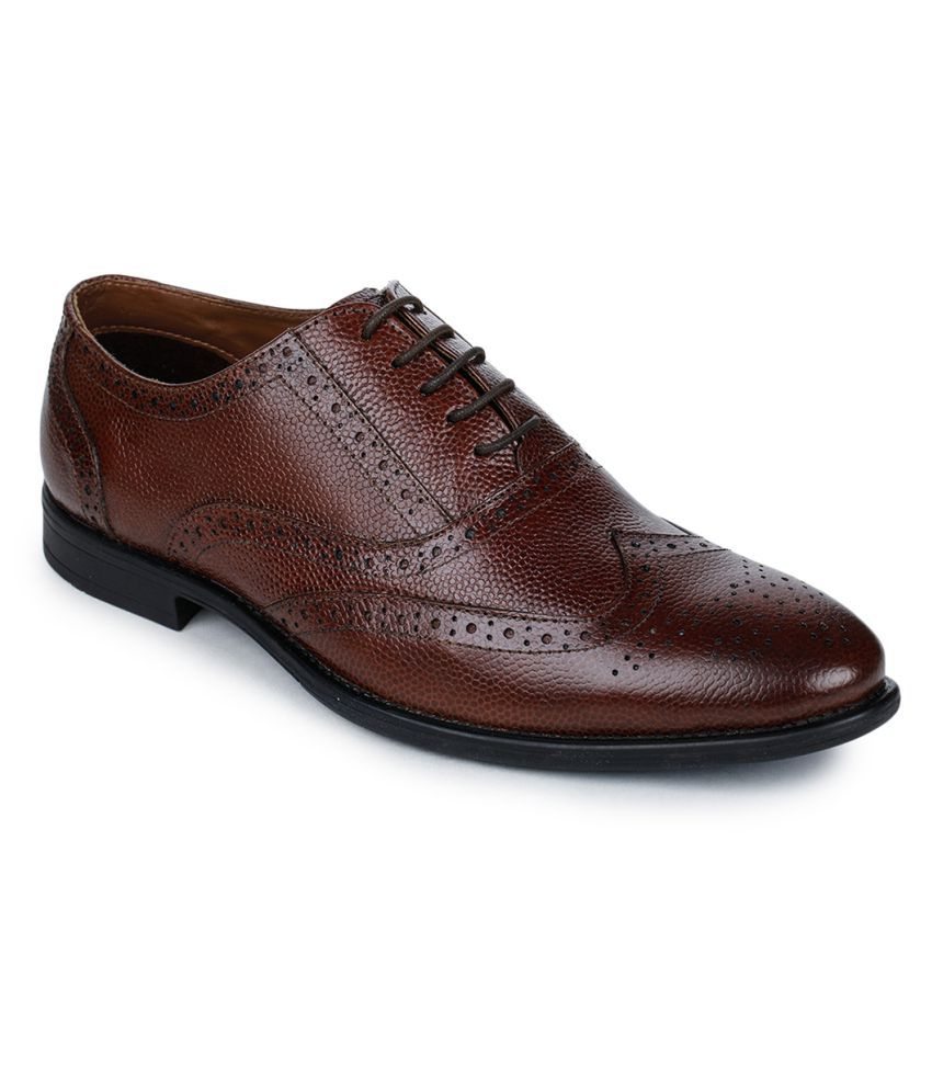 Bruno Manetti Genuine Leather Brown Formal Shoes