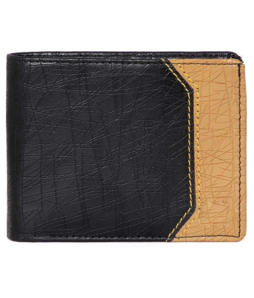 LUXIQE PU Black Casual Traveller Wallet