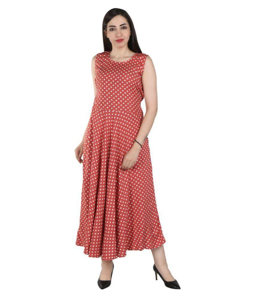 Flamboyant Rayon Multi Color Regular Dress