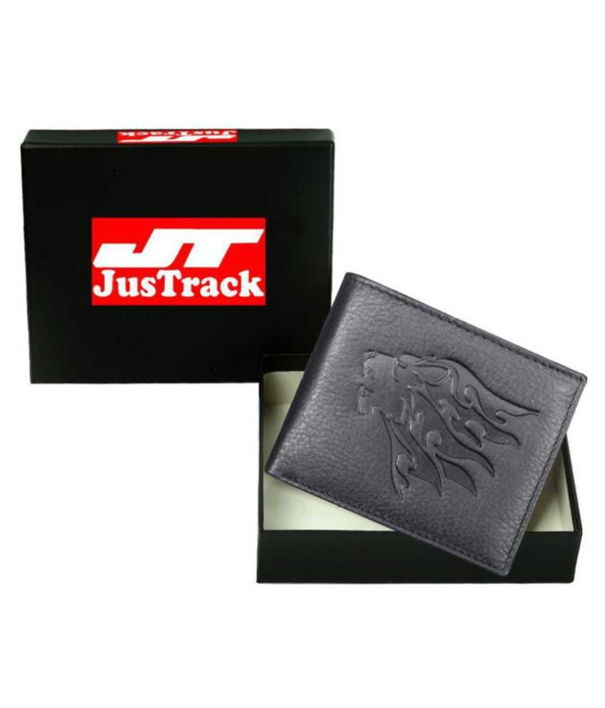 Justrack Leather Black Formal Money Clipper