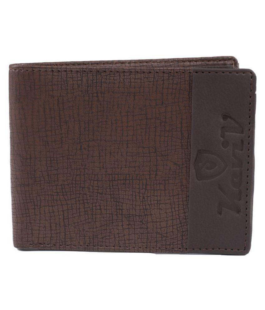 Keviv Leather Brown Casual Regular Wallet