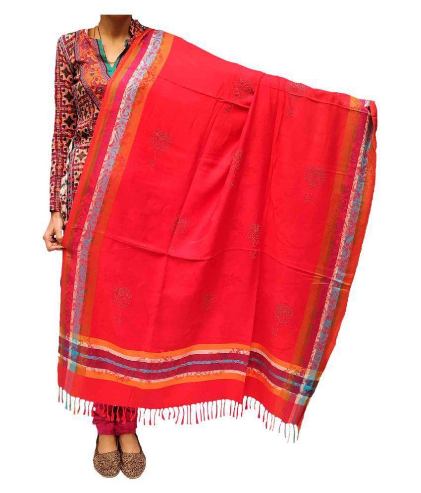 Kashmiri Shawl Red Floral Shawl