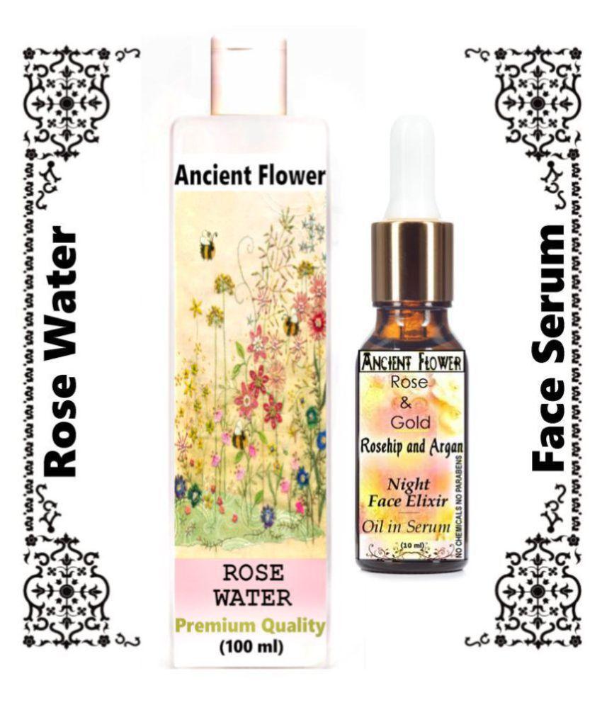Ancient Flower Rose Water, Rose & Gold Face Serum 110 mL