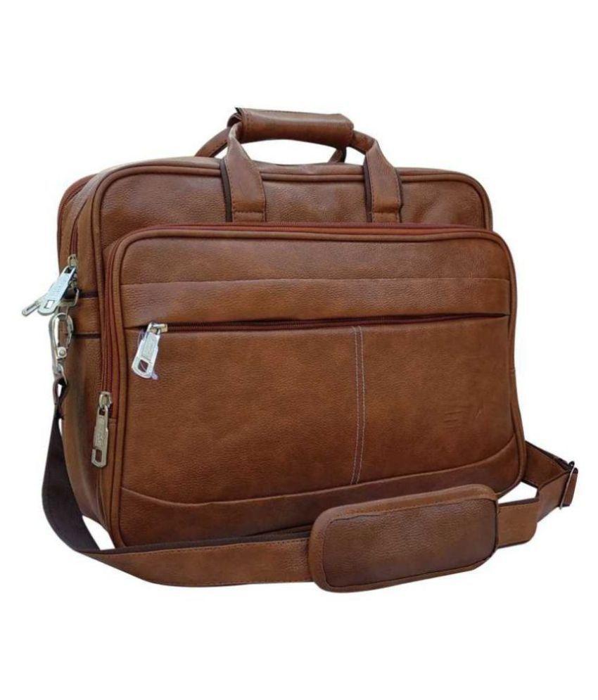 Home Story Tan P.U. Office Bag