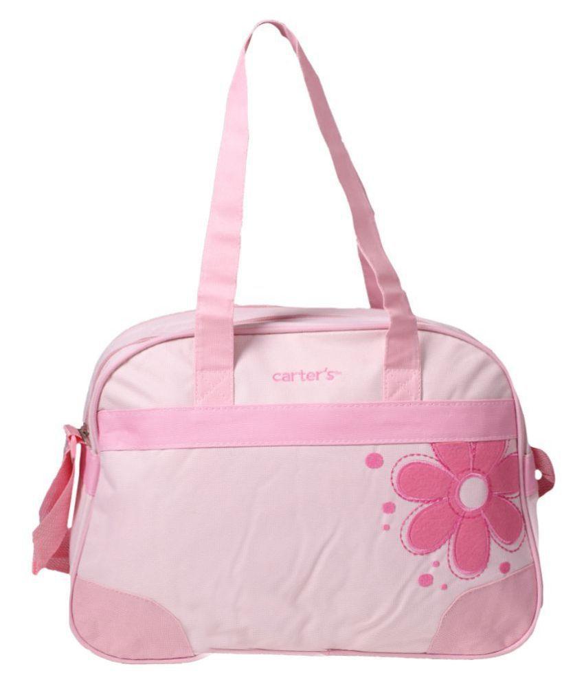 dorokids Pink Canvas Diaper Bag   40x30x18 cm