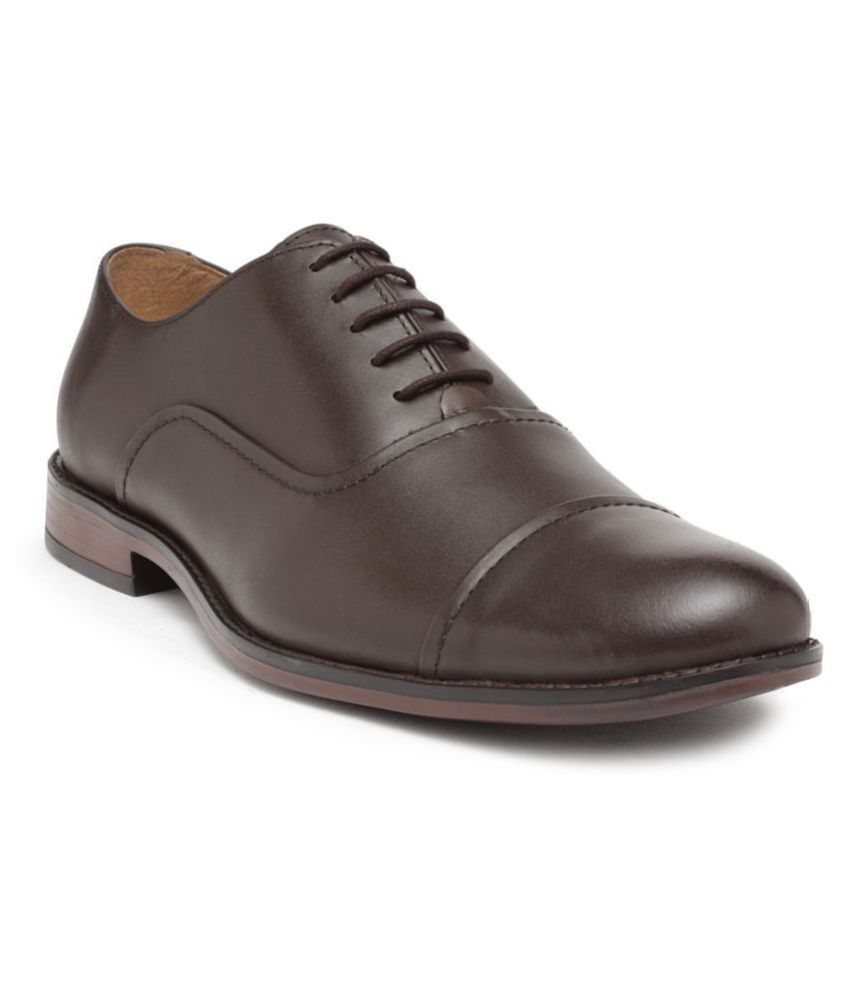 NOBLE CURVE Oxford Brown Formal Shoes