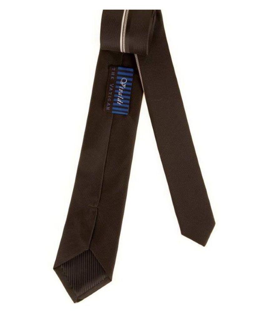 The Vatican Black Plain Micro Fiber Necktie