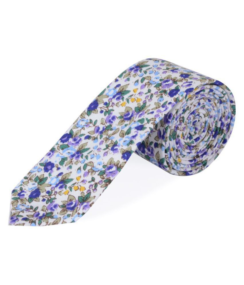 The Vatican Blue Floral Cotton Necktie