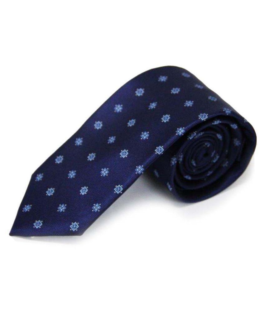 The Vatican Blue Geometrical Micro Fiber Necktie