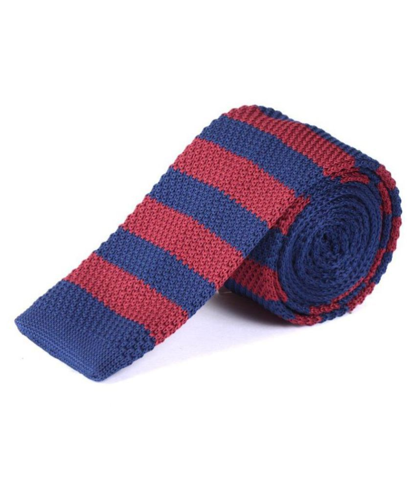 The Vatican Blue Stripes Micro Fiber Necktie