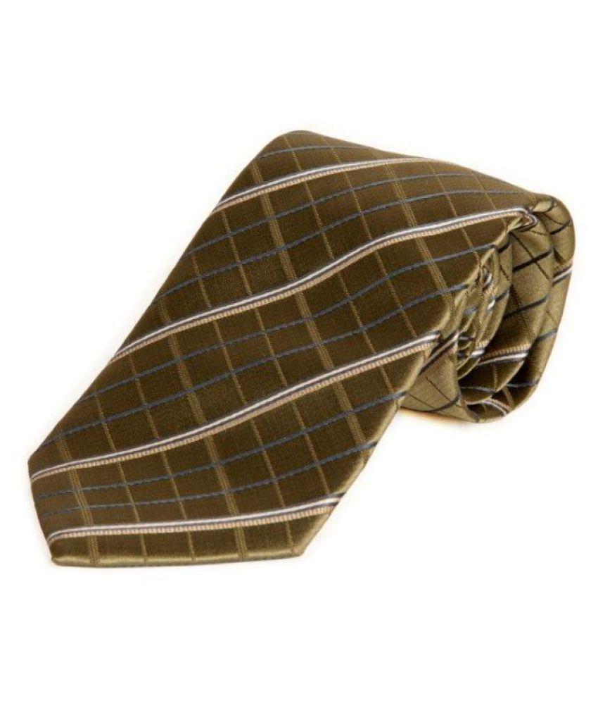 The Vatican Green Stripes Silk Necktie