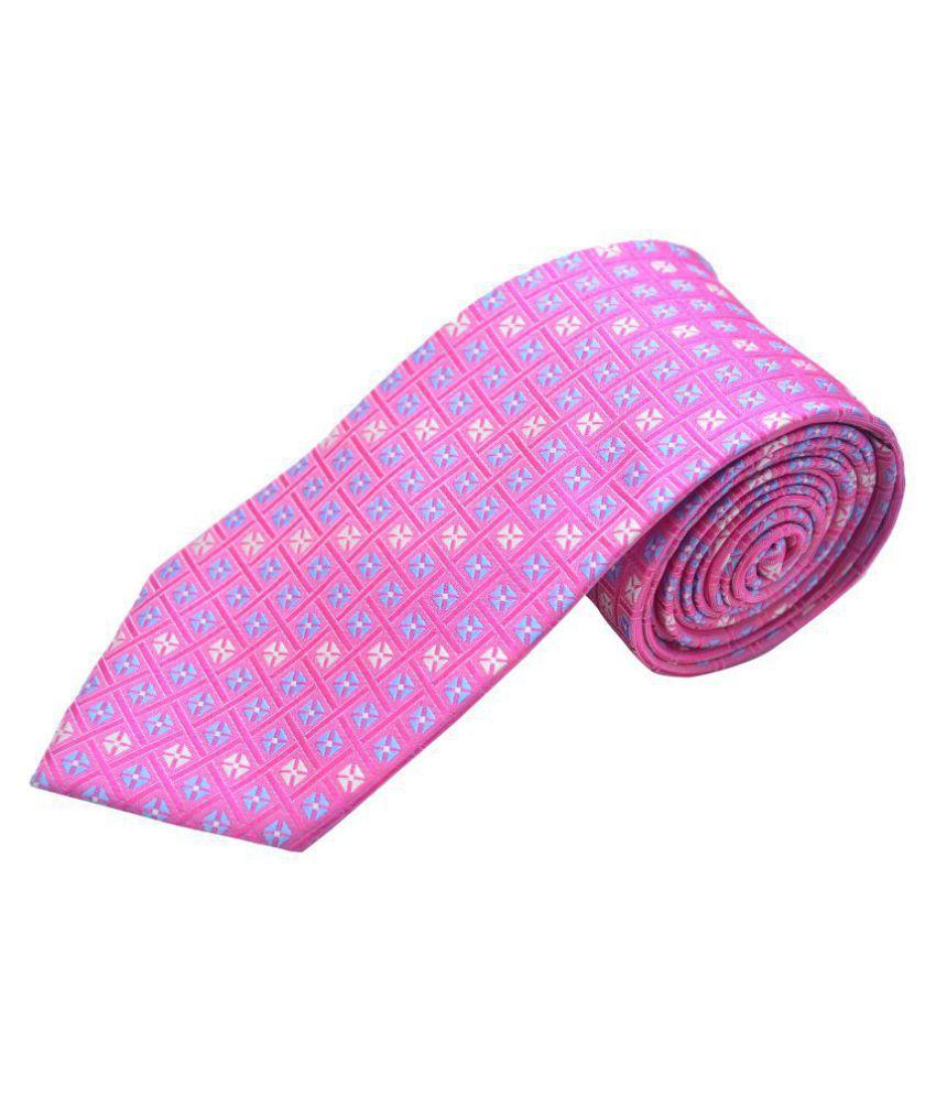 The Vatican Pink Checks Silk Necktie
