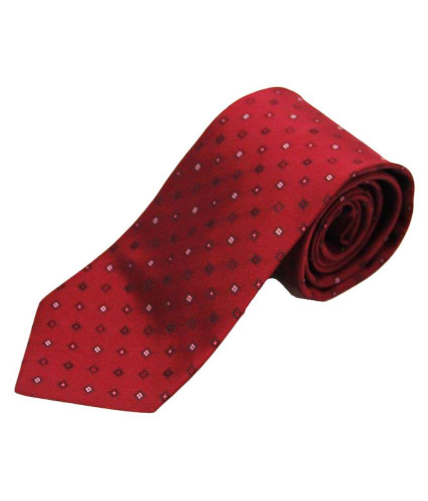 The Vatican Red Dots Micro Fiber Necktie