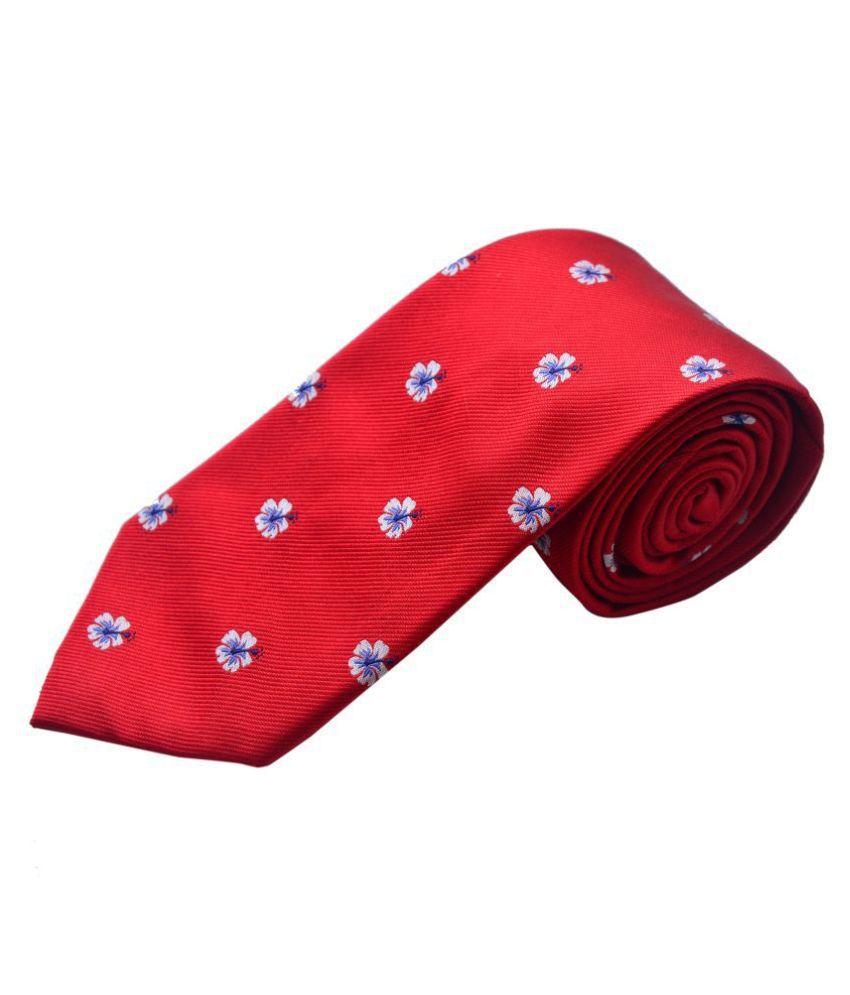 The Vatican Red Floral Silk Necktie