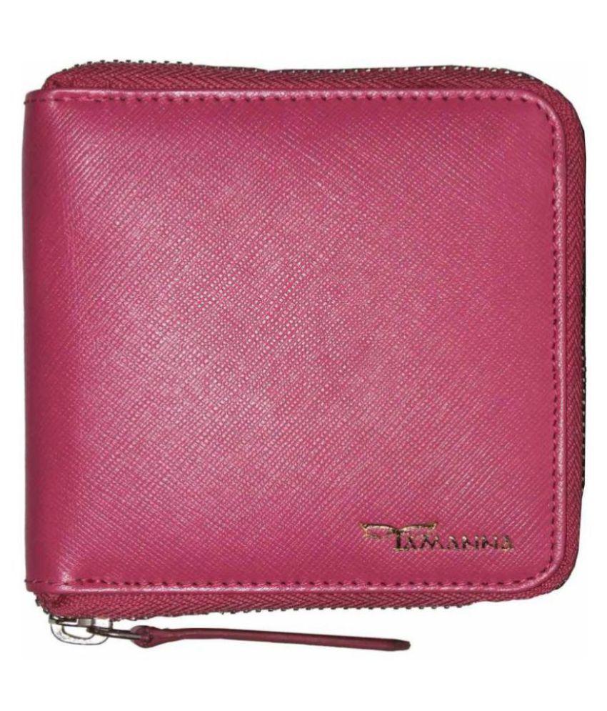 Tamanna Leather Pink Casual Regular Wallet