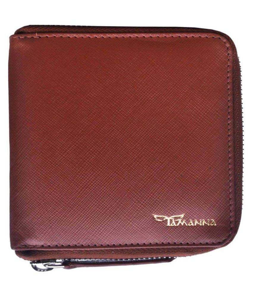 Tamanna Leather Tan Formal Regular Wallet