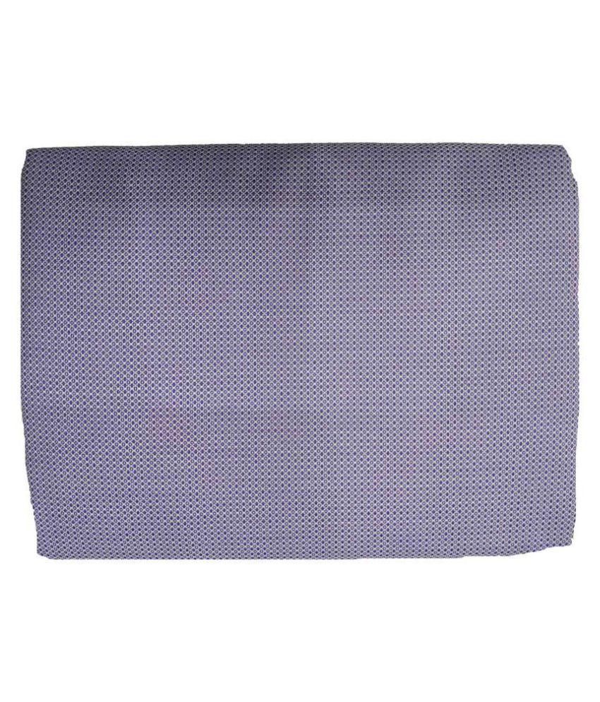 Gee Enn Sons Blue 100 Percent Cotton Unstitched Shirt pc