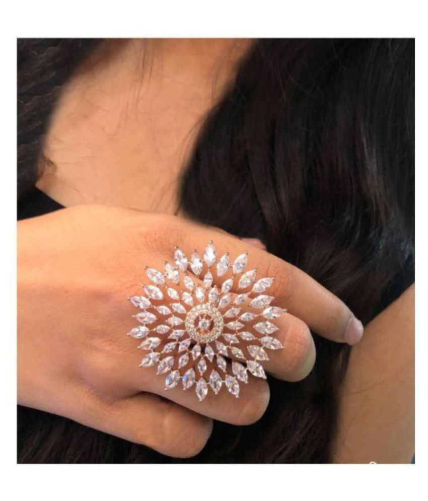 Navya Collections American Diamond Ring For Girls And women