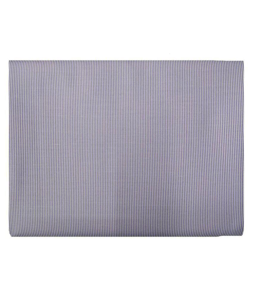 Varun Cloth House Purple Cotton Blend Unstitched Shirt pc