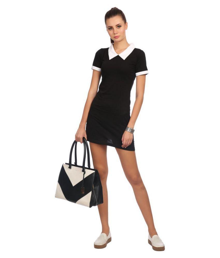 Taaruush Cotton Black A- line Dress