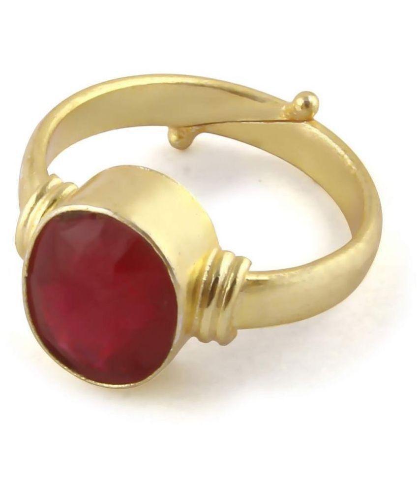 A1 Gems 7.25 Ratti 6.42 Carat A+ Quality Burma Ruby Manik Gemstone Ring For Women's and Men's