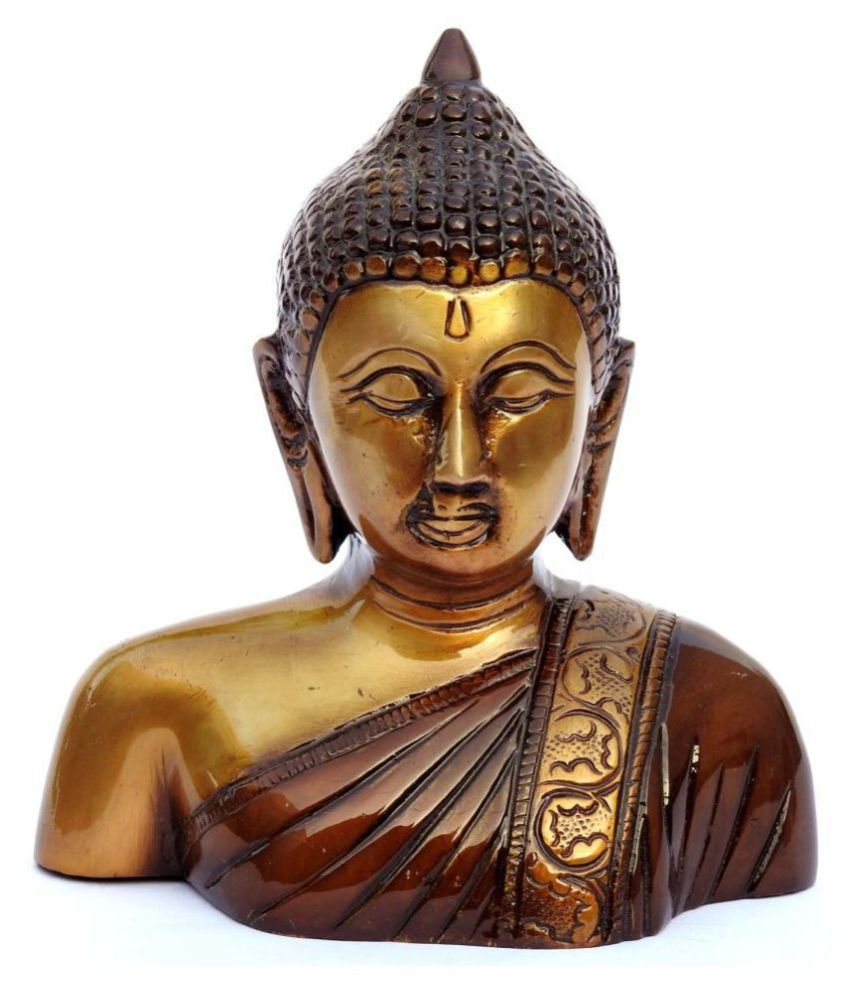 Susajjit Decor GAUTAM BUDHA Brass Buddha Idol 15 x 13 cms Pack of 1