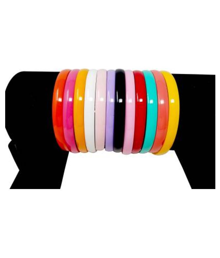 Hair Band Combo Of Rainbow Colors,Large, For wavy Hair, Hair Band, School Time , Dailyuse, Head Band, for Women/Girls (Pack of 12) Hair Band  (Multicolor)