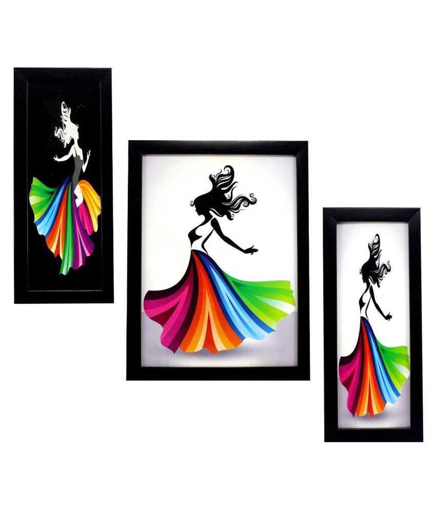 Indianara FASHION Synthetic Painting With Frame