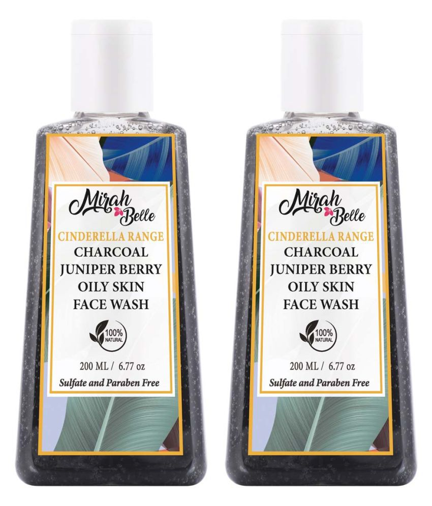 Mirah Belle Charcoal-Juniper Berry Oily Skin- SLS, Paraben, GMO-Free Face Wash 200 mL