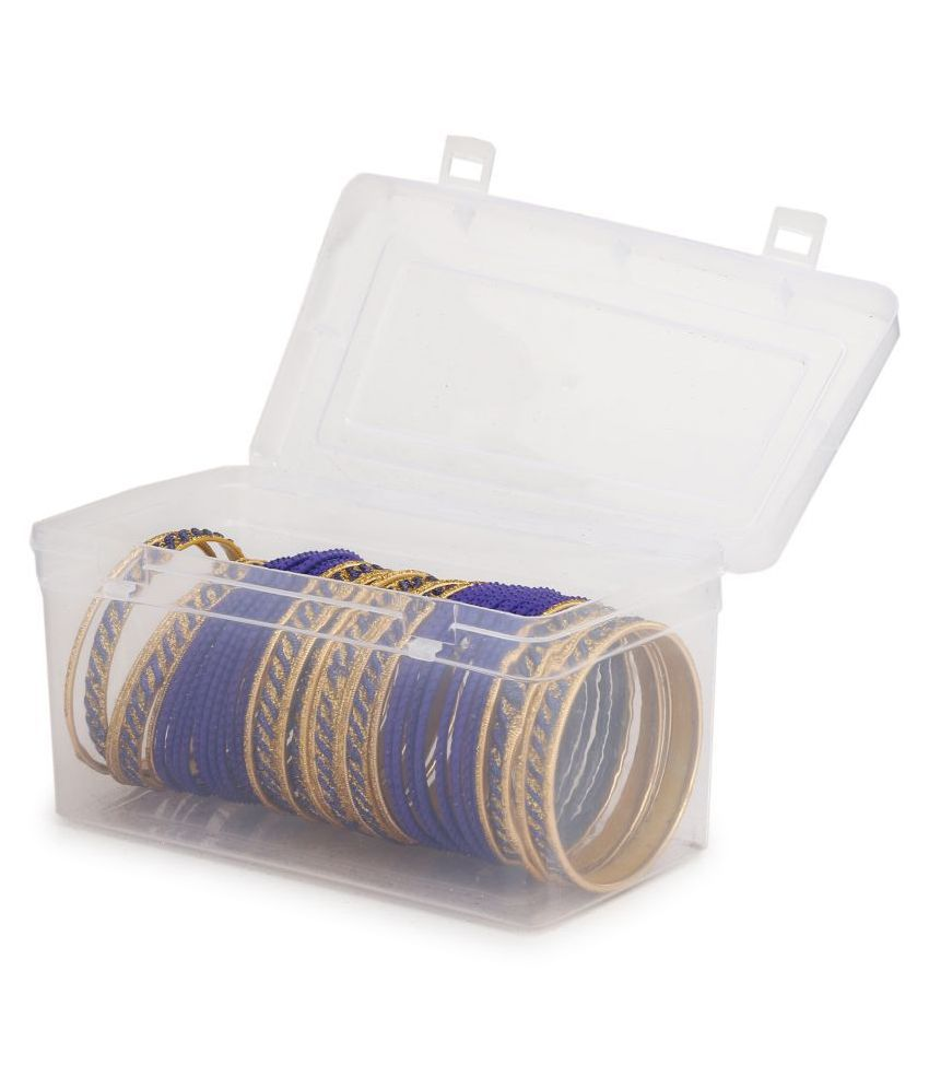 Colorful Designer Bangle Set With Golden Bangles For Party And Daily Use (With Safety Cum Carry Box) Unbreakable018