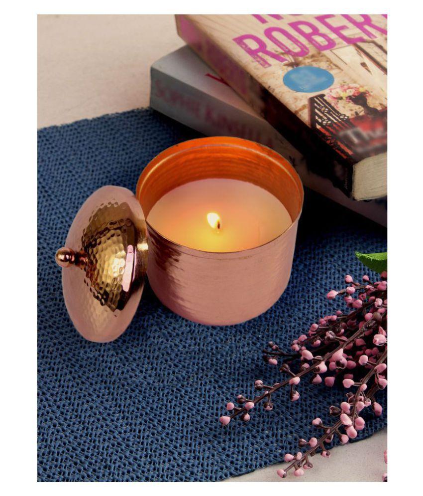Hosley Beige Jar Candle - Pack of 1