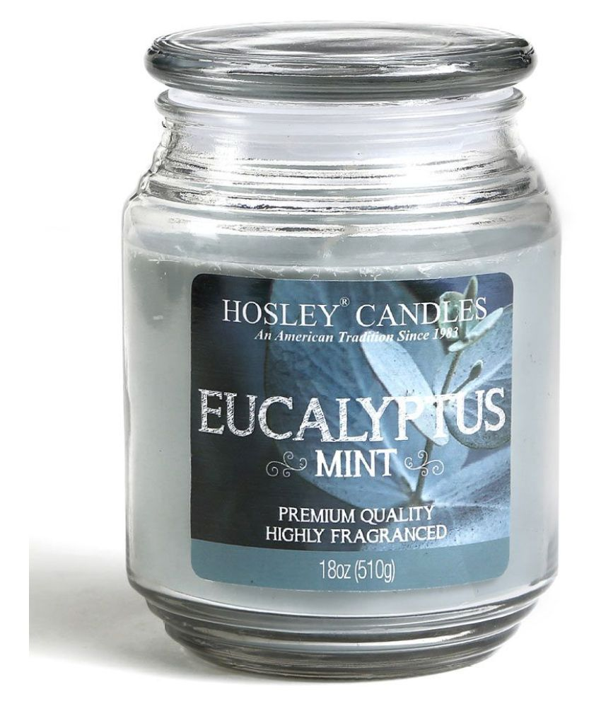 Hosley Grey Jar Candle - Pack of 1