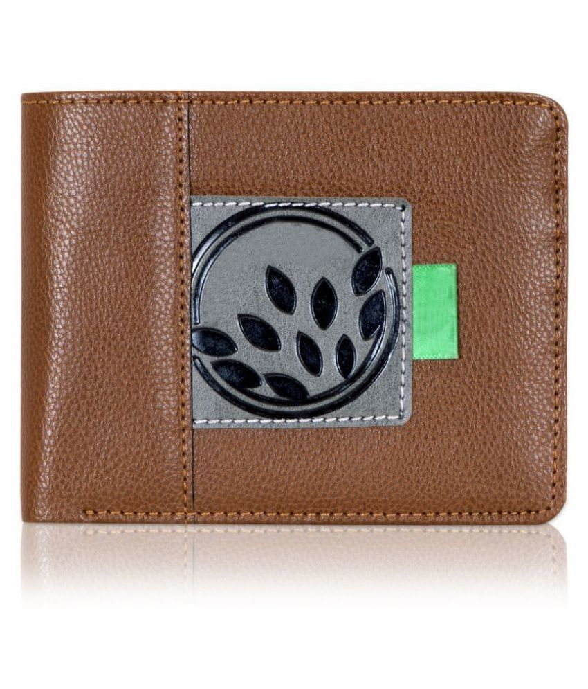 LUXIQE Leather Tan Casual Regular Wallet