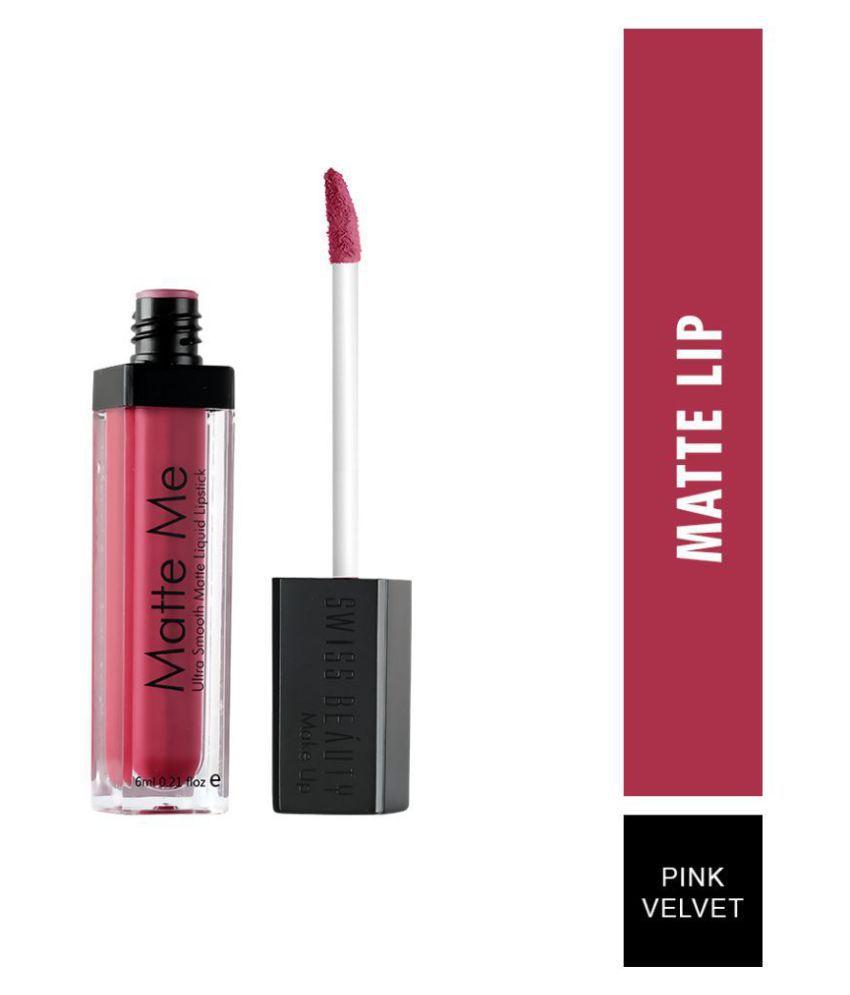 Swiss Beauty Matte Liquid Lipstick (Pink Velvet), 6ml