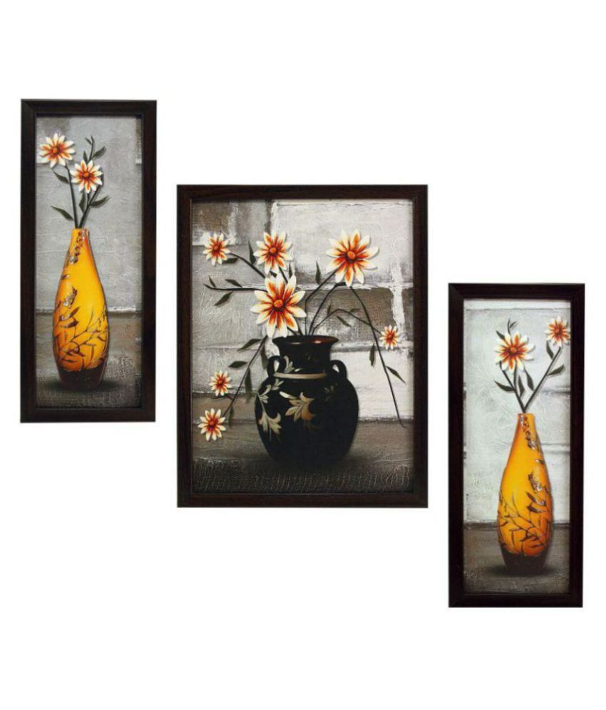 Indianara flower Synthetic Painting With Frame