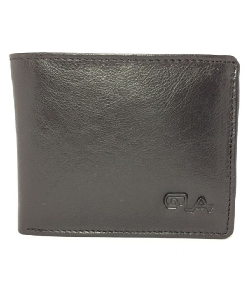 Goodwill Leather Art Leather Brown Formal Short Wallet