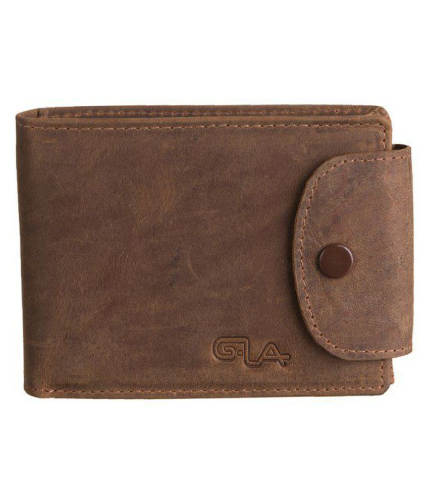 Goodwill Leather Art Leather Brown Casual Short Wallet