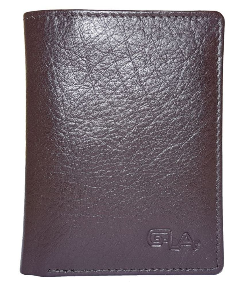 Goodwill Leather Art Leather Brown Formal Long Wallet