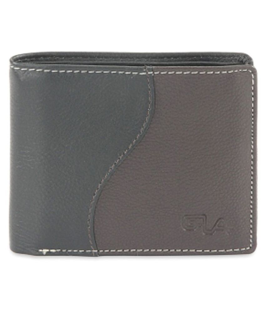 Goodwill Leather Art Leather Gray Casual Short Wallet
