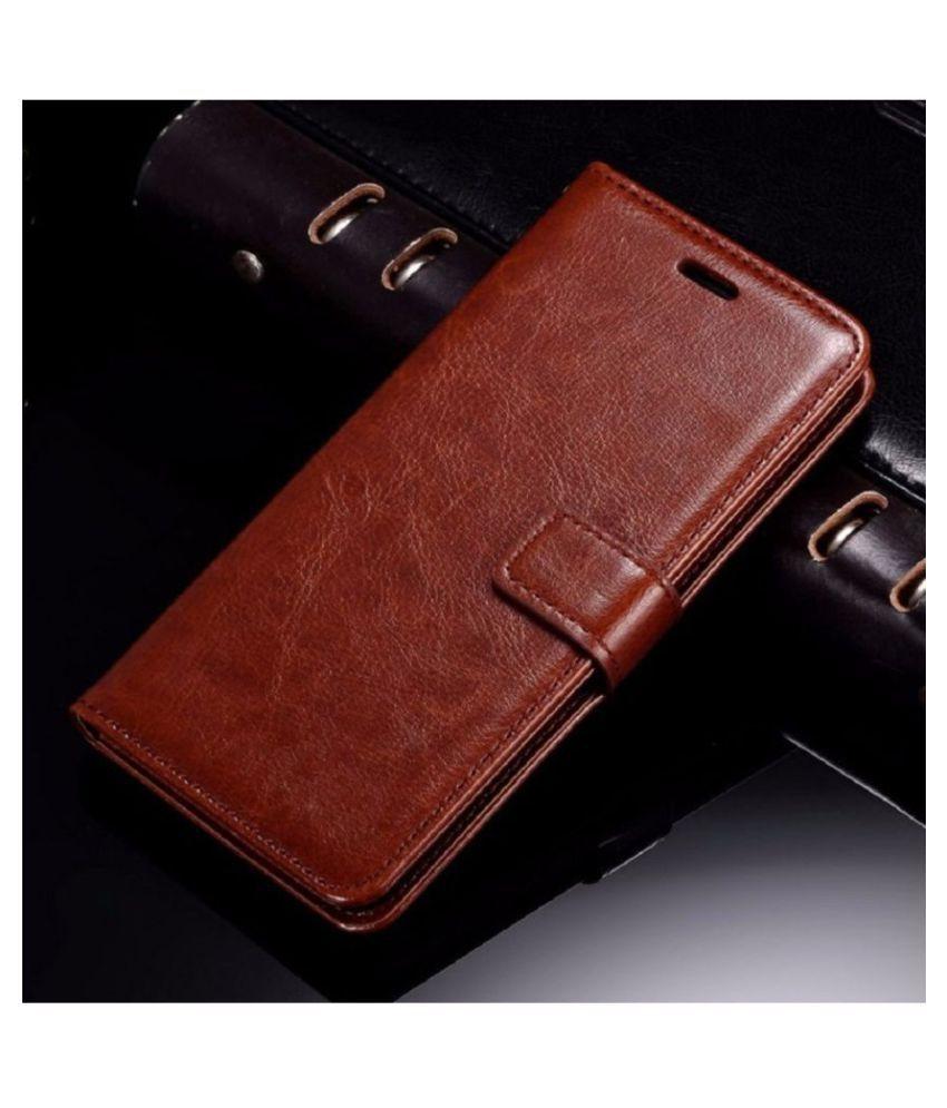 Samsung Galaxy J7 Max Flip Cover by XORB   Brown